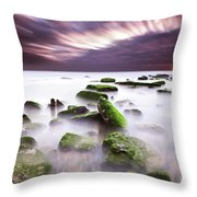 Green Motion Throw Pillow