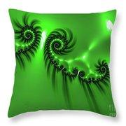 Green Mystery Throw Pillow