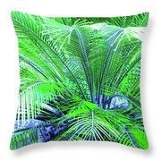 Green Palm Throw Pillow
