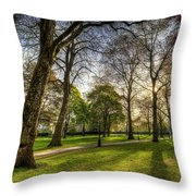 Green Park London Throw Pillow