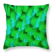 Green Pattern Abstract Throw Pillow