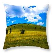 Green Peak Yellow Throw Pillow