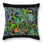 Northern Pitcher Plant Throw Pillow