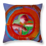 Green Planet  Throw Pillow