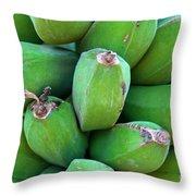 Green Platanos Throw Pillow