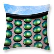 Green Polka-dot Curve Throw Pillow