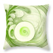 Green Power Throw Pillow