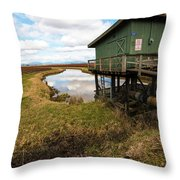 Green Pump House Throw Pillow