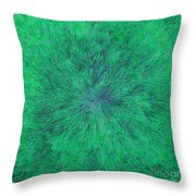 Green Radation With Violet  Throw Pillow
