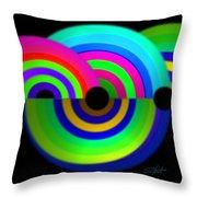 Green Rainbow Throw Pillow