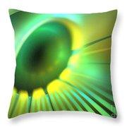 Green Rays Throw Pillow