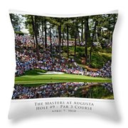 Green Reflections Par 3 Hole 9 Throw Pillow by Barry C Donovan