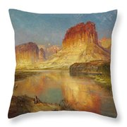 Green River Of Wyoming Throw Pillow