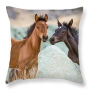 Green Rock Quarry Throw Pillow