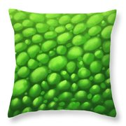 Green Scales Throw Pillow