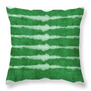 Green Shibori 3- Art By Linda Woods Throw Pillow