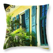 Green Shutters Throw Pillow