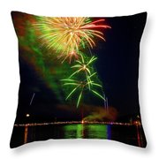 Green Sky Throw Pillow