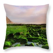 Green Soul Of The Cliff Throw Pillow