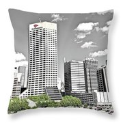 Green Space In Indy Throw Pillow