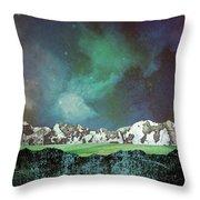 Green Space Throw Pillow