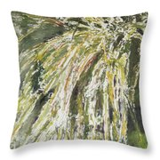 Green Reeds Throw Pillow