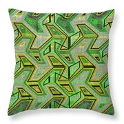 Green Steps Abstract Throw Pillow