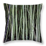 Green Sticks Throw Pillow