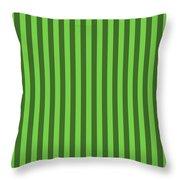Green Striped Pattern Design Throw Pillow