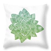 Green Succulent 1- Art By Linda Woods Throw Pillow