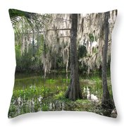 Green Swamp Throw Pillow