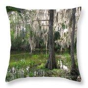 Green Swamp Throw Pillow