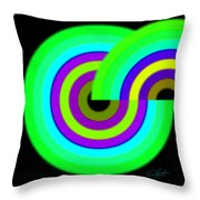 Green Targets Throw Pillow