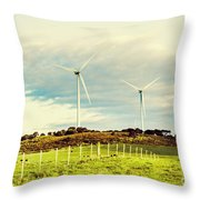 Green Tasmania Throw Pillow