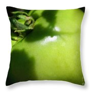 Green Tomato Throw Pillow
