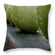 Green Tomato's Throw Pillow