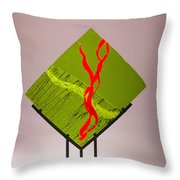 Green Touch Throw Pillow