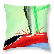 Green Tree Red Ridge Throw Pillow