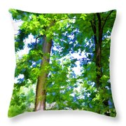 Green Trees 1 Throw Pillow