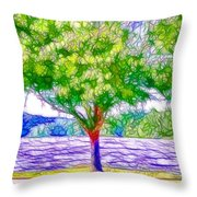 Green Trees By The Water  5 Throw Pillow
