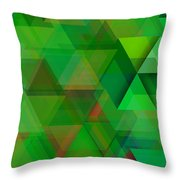 Green Triangles Over Green Mist Throw Pillow