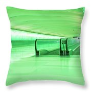 Green Tunnel Throw Pillow