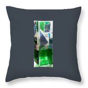 Green Vase Throw Pillow by Jamie Frier