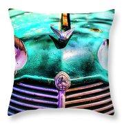 Green Vauxhaull Throw Pillow