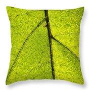 Green Veins Throw Pillow