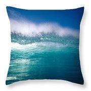 Green Wave Throw Pillow