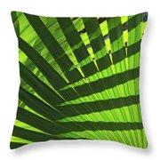 Green Weaver Throw Pillow