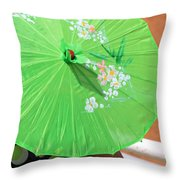 Green Western Day Throw Pillow