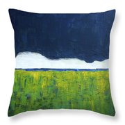 Green Wheat Field Throw Pillow