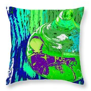 Green Whirl Throw Pillow